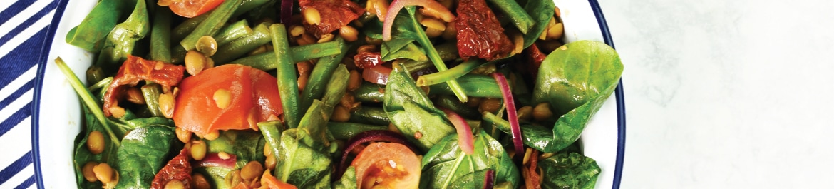 Warm Lentil and Green Bean Salad with Balsamic Dressing