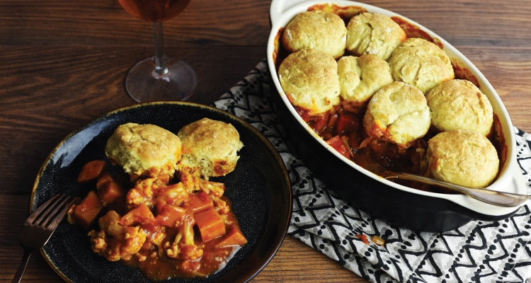 Butternut Squash and Cauliflower Cobbler