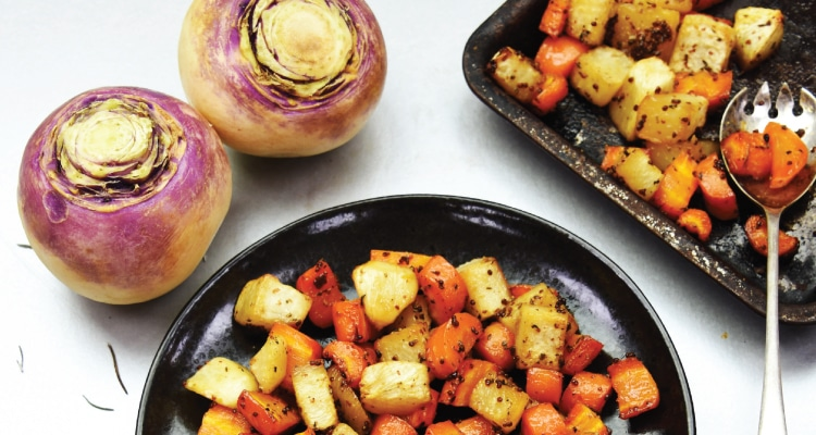 Maple Roasted Carrots and Turnips