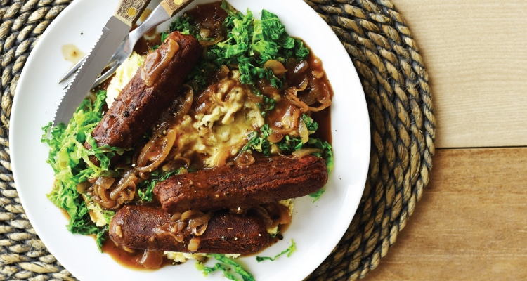 Sausage and Mash with Onion Gravy
