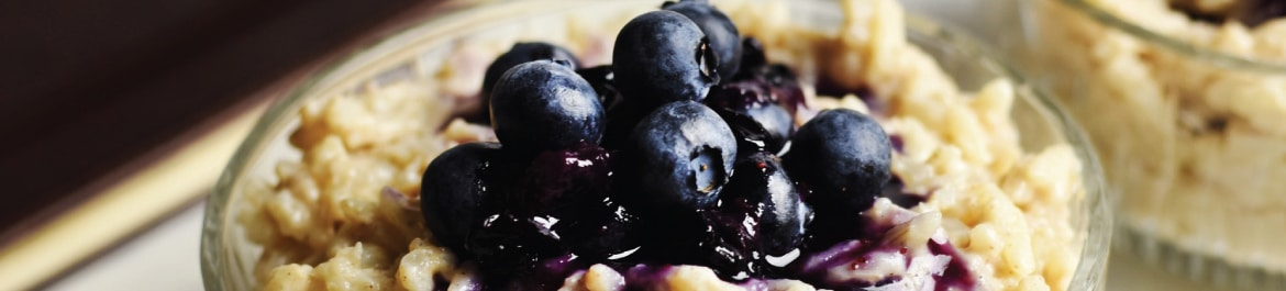 Slow Cooker Coconut and Blueberry Rice Pudding