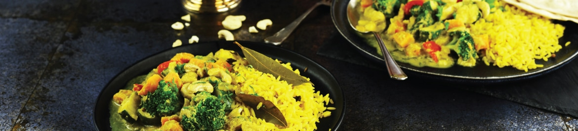 Vegetable Korma with Pilaf Rice