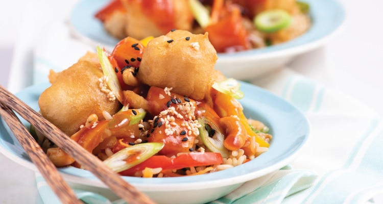 Sweet and Sour Tofu Balls