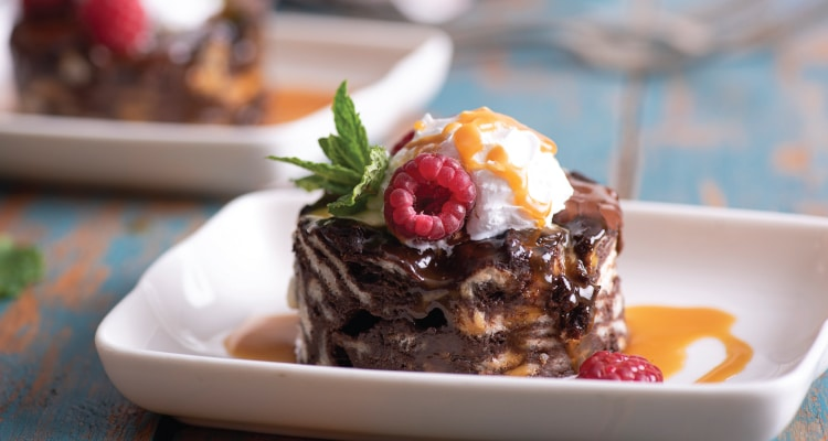 Chocolate Bread Pudding and Toffee Sauce